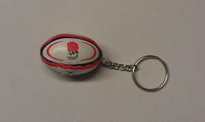 England Rugby Ball Key Chain