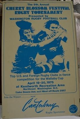 1975 Cherry Blossom Rugby Tournament Poster