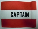 Kwik Goal Captain Arm Band - Red