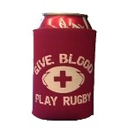 """Give Blood Play Rugby"" Koozie"