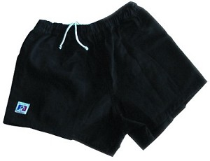 Godek Cotton NZ Rugby Shorts - Black