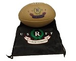 USRFF Leather Rugby Ball